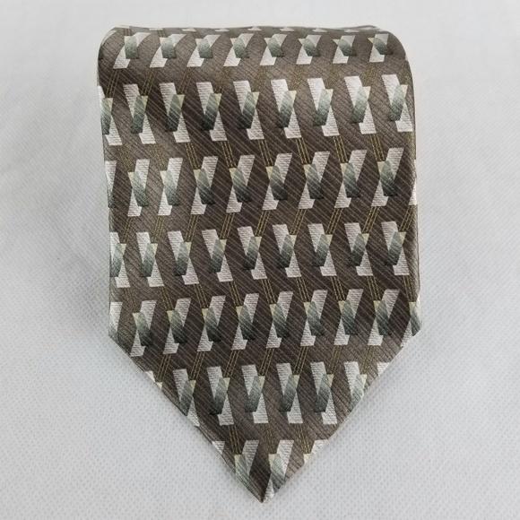 Palatina Other - Palatina Men's NWT Tie 100% Silk Brown Green Gray